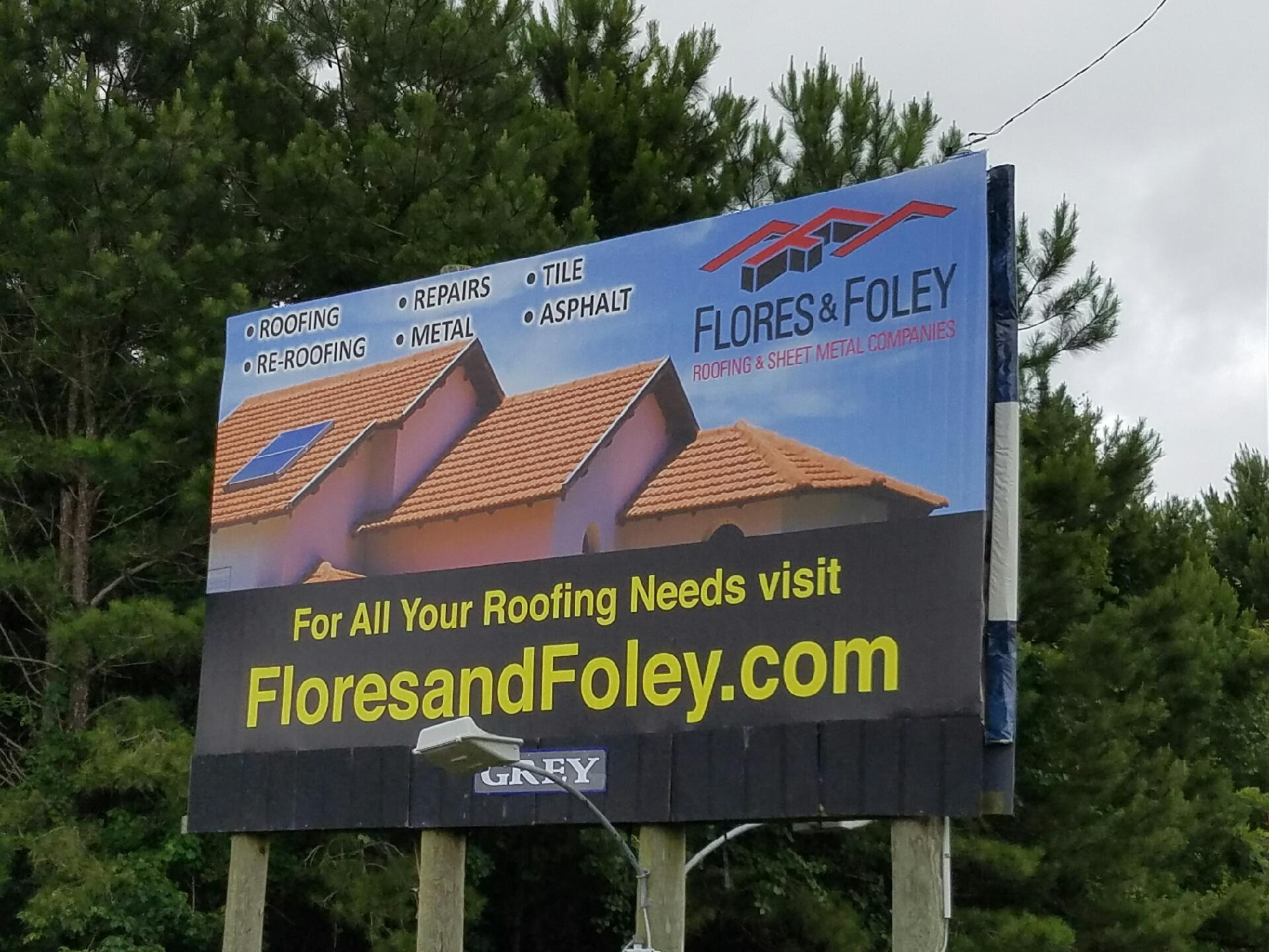 Flores And Foley Roofing Residential And Commercial Roofing Serving Wilmington Nc Grey Outdoor Billboards
